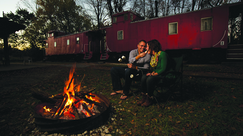 Santa Fe Train Cabooses at Wildlife Prairie Park | Enjoy
