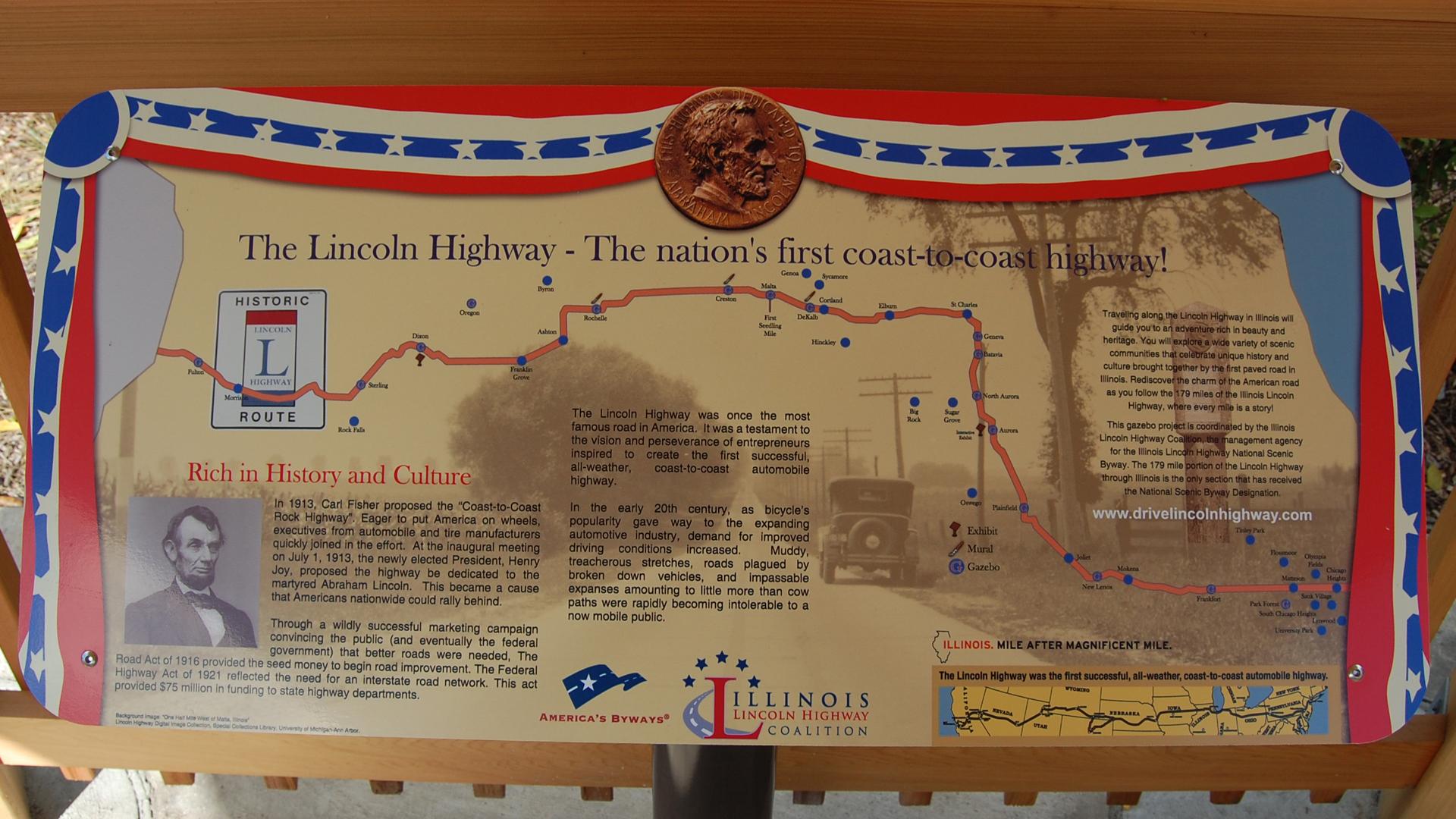 Illinois Lincoln Highway Interpretive Gazebo Sterling Enjoy Illinois