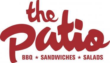 Patio Logo W BBQ Sandwiches Salads COMMANDO Burgundy