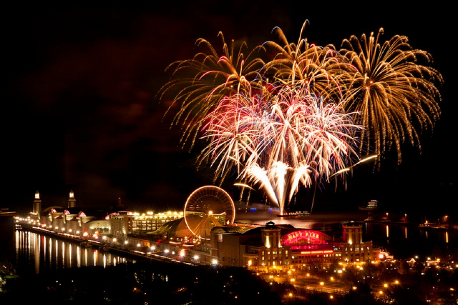 New Year S Eve Fireworks At Navy Pier Enjoy Illinois