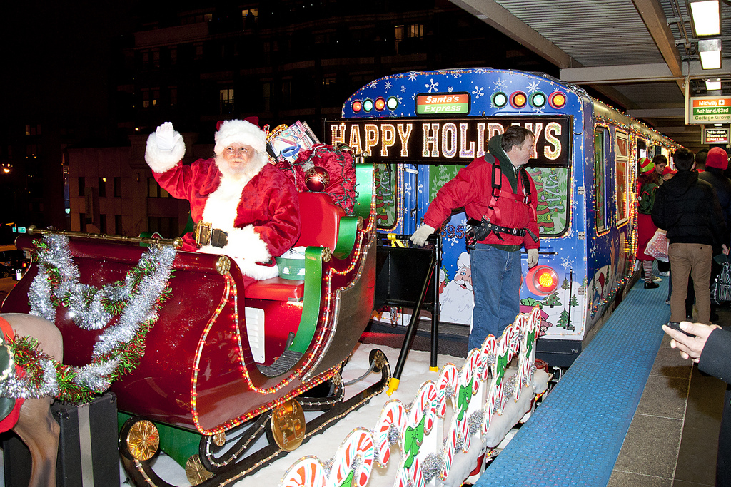 Image result for holiday cta train