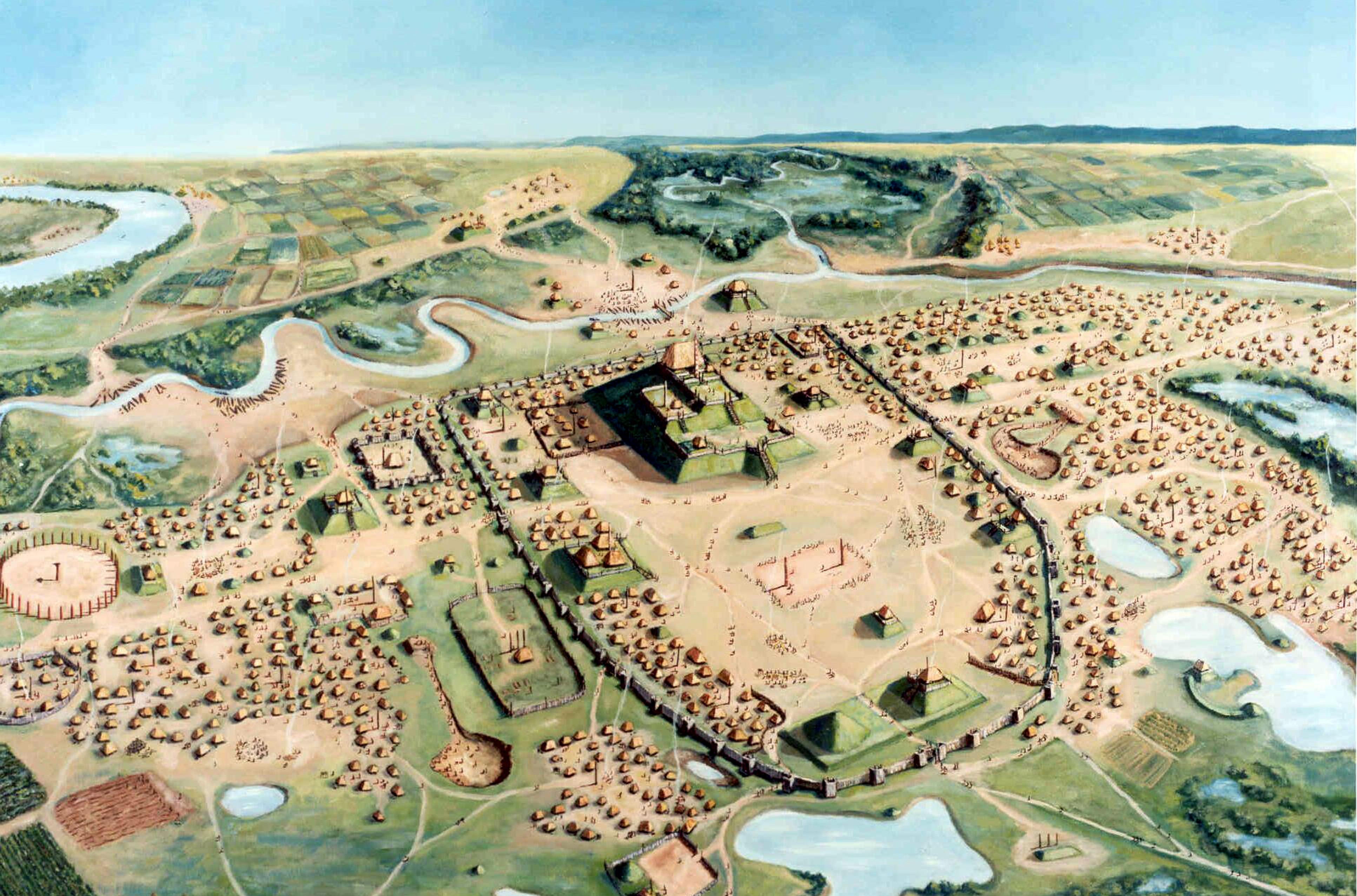IsemingerPainting-Credit-Aerial-view-of-Cahokia-by-William-R.-Iseminger.JPG