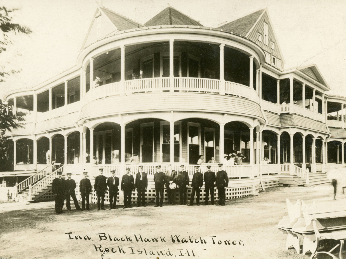 image of original lodge at Black Hawk State Historic Site during the early 1900's.