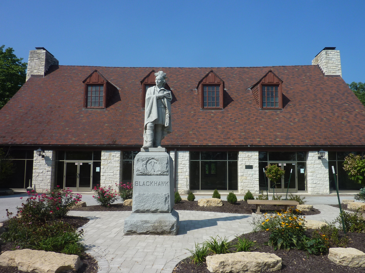 Watch Tower Lodge today. The lodge houses the John Hauberg Indian Museum, CCC exhibit, and large banquet area the features two large murals depicting the Sauk Tribe.