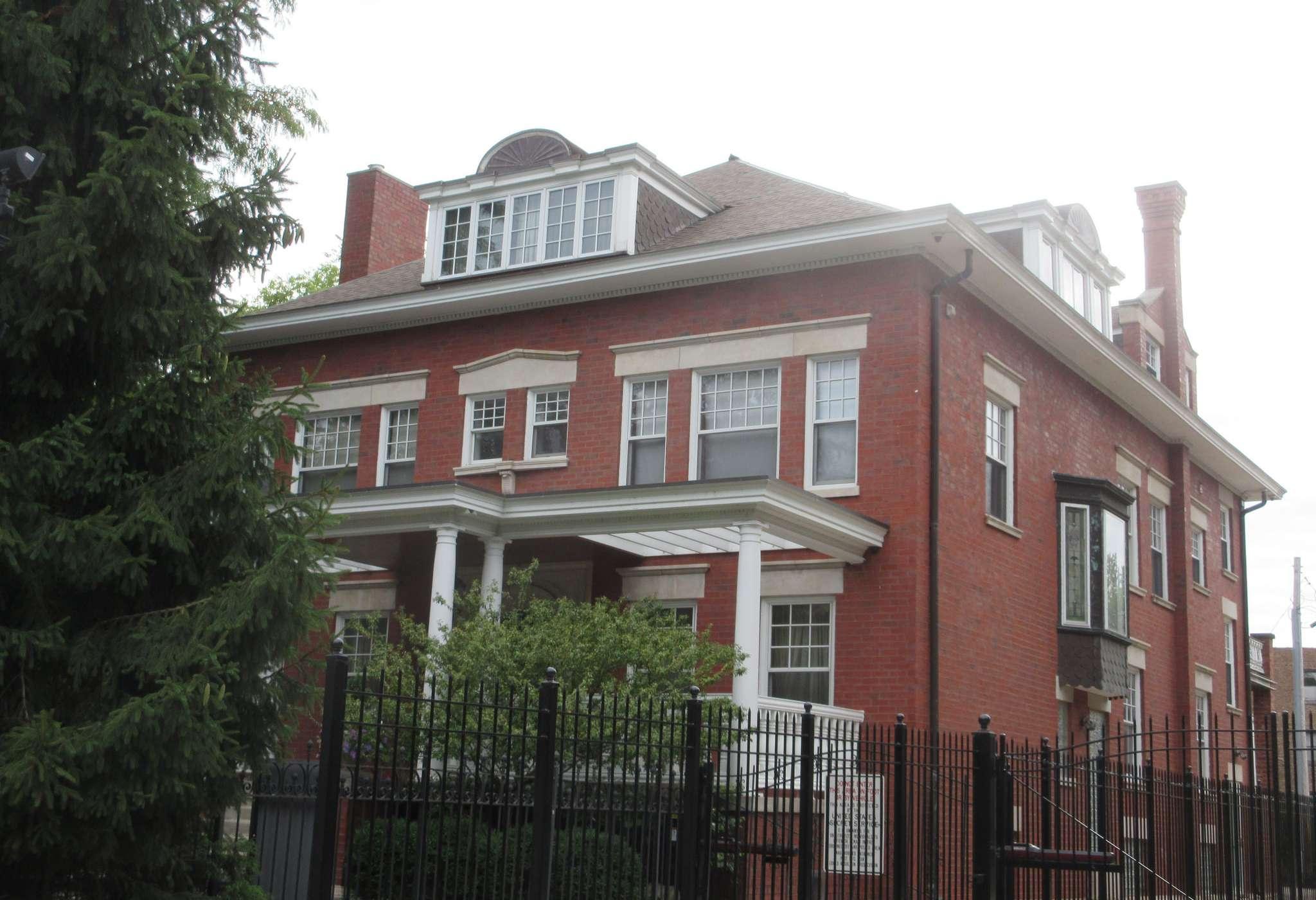Exterior of the Obama family home