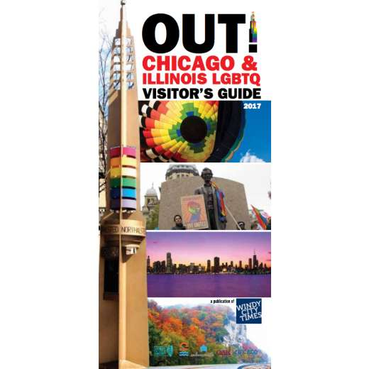 Cover of OUT's Chicago & Illinois LGBTQ Visitor's Guide