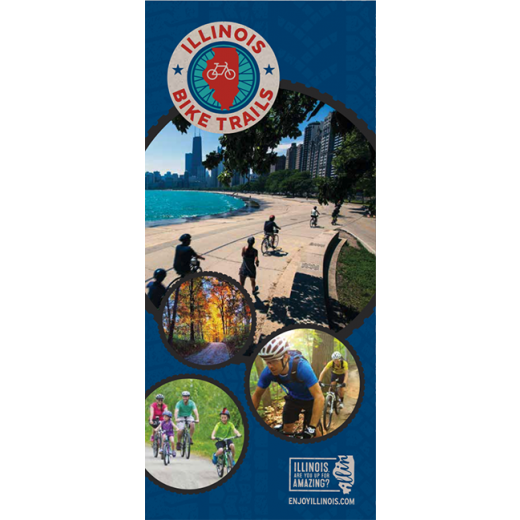 The cover of the downloadable Illinois Bike Trails guide.