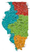 Map of Illinois Doors Open regions