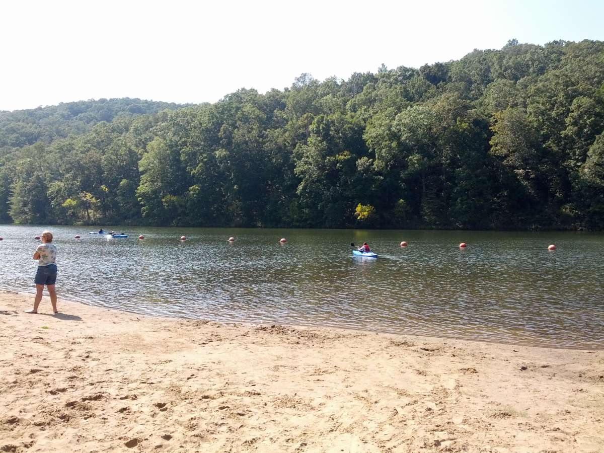 Kayak or swim at Pounds Hollow Lake