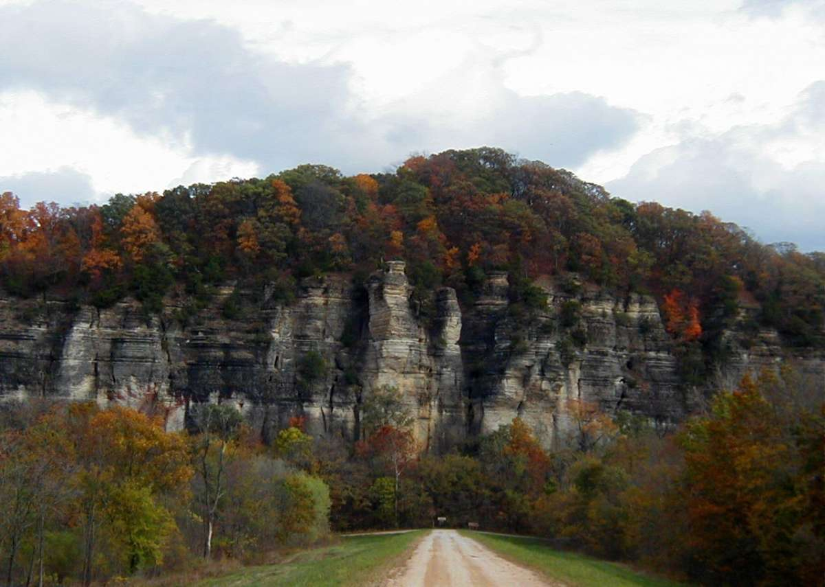 Bluffs in the Shawnee National Forest