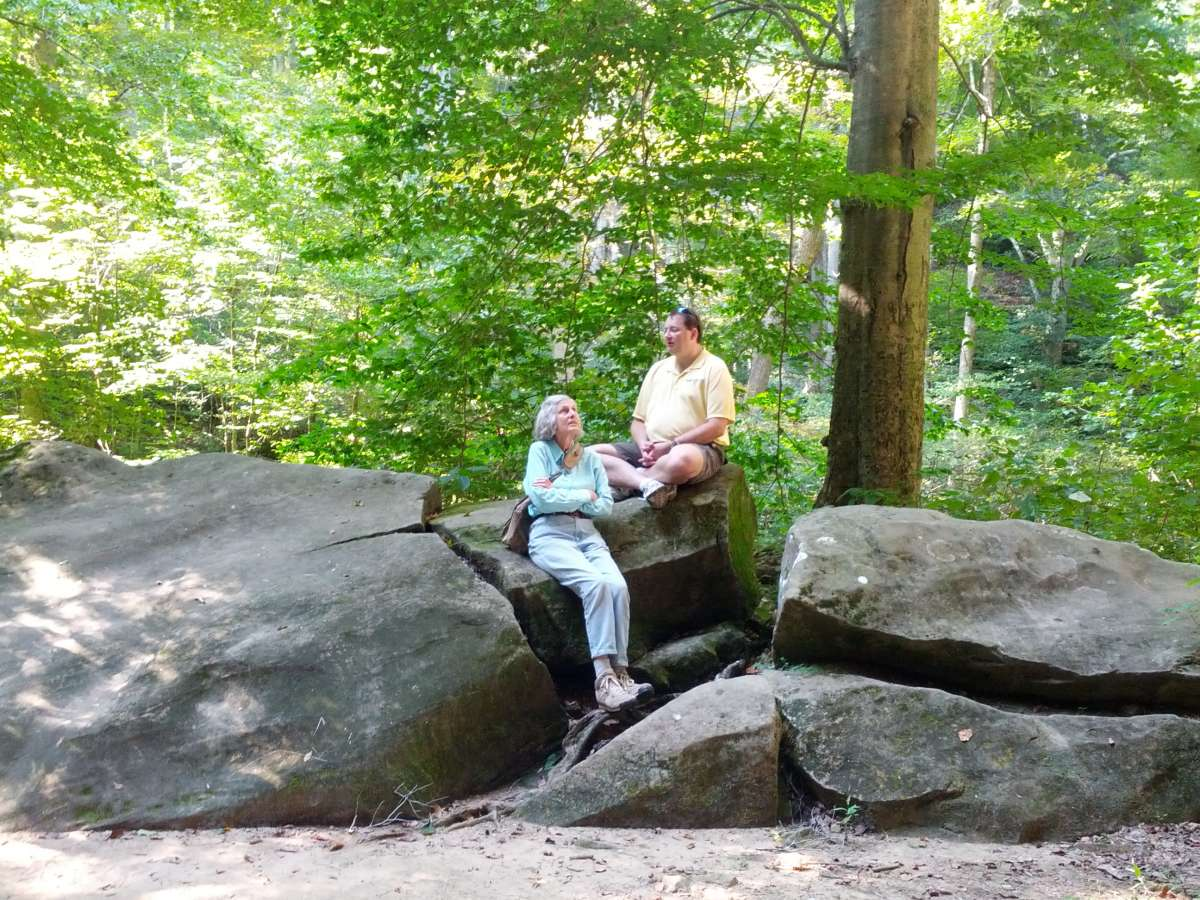Listening to birds along Rim Rock trail